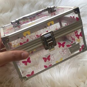 Caboodles butterfly clear travel train case